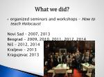 what we did4