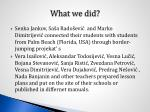 what we did6
