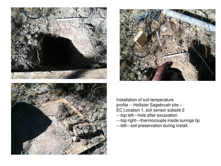 Installation of soil temperature