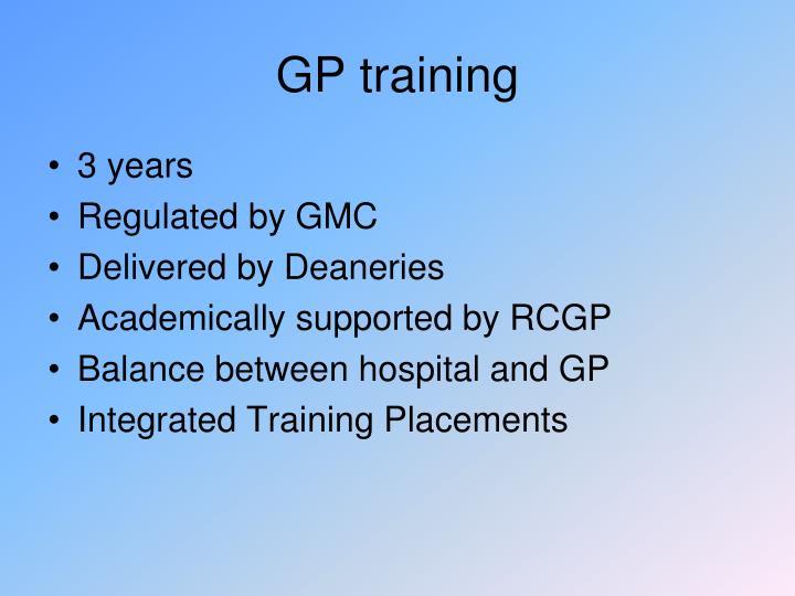 GP training