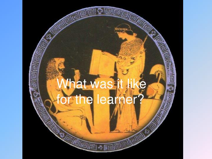 What was it like for the learner?