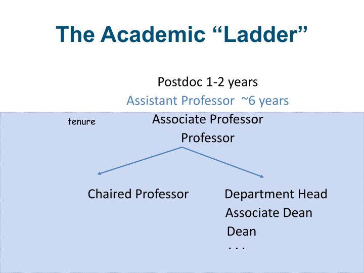 "The Academic ""Ladder"""