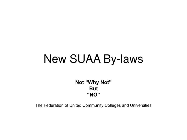new suaa by laws n.