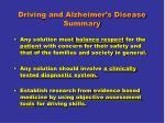 driving and alzheimer s disease summary2
