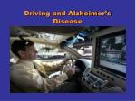 driving and alzheimer s disease