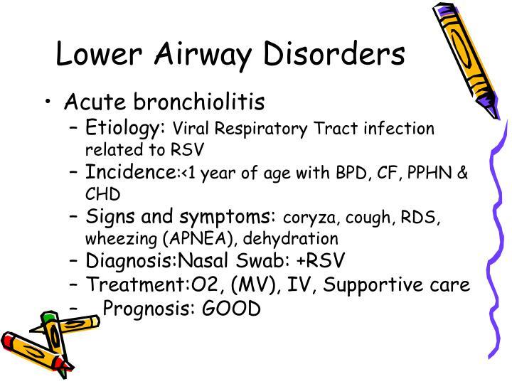 Lower Airway Disorders