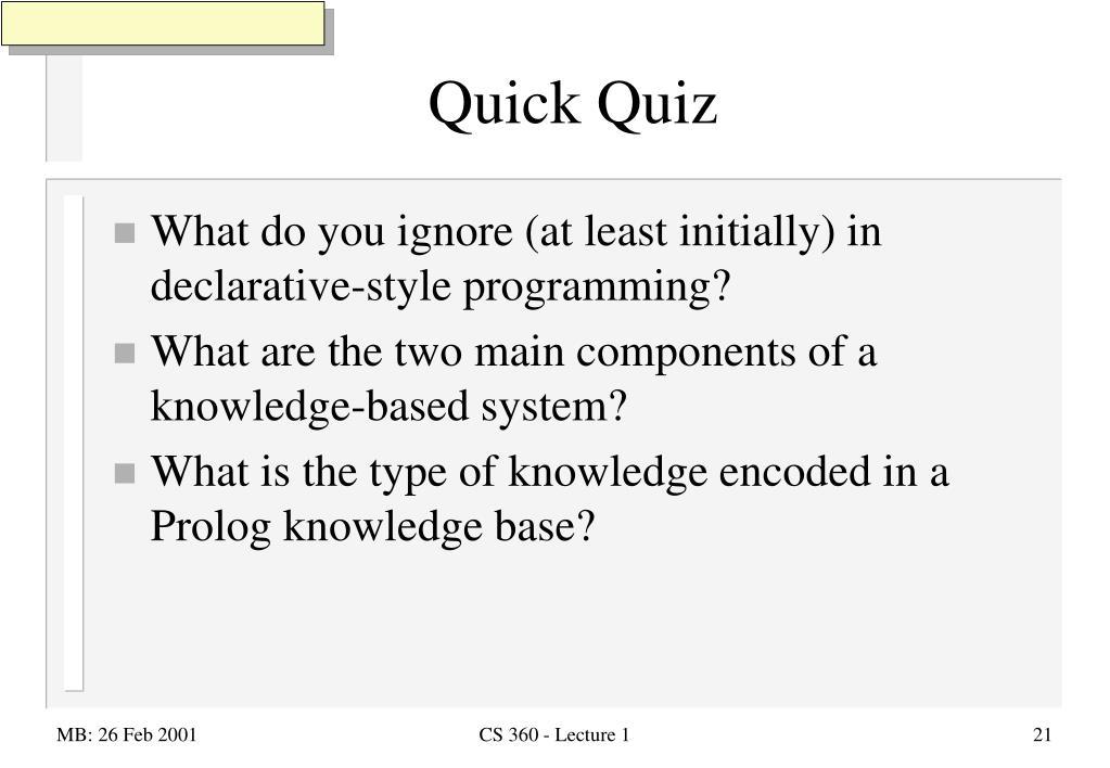 PPT - Programming in Logic: Prolog PowerPoint Presentation - ID:6304140