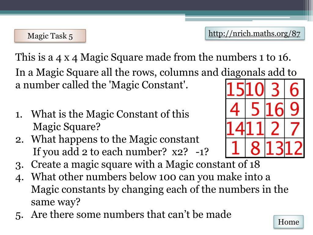 PPT - Magic Task PowerPoint Presentation - ID:6304154