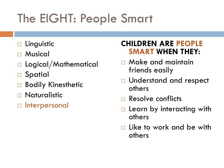 The EIGHT: People Smart
