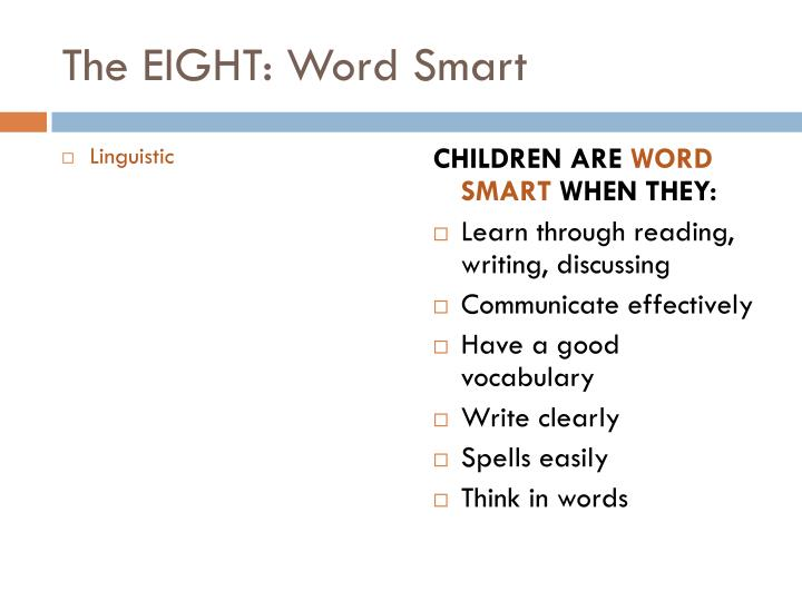 The EIGHT: Word Smart
