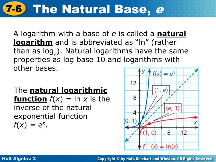 A logarithm with a base of