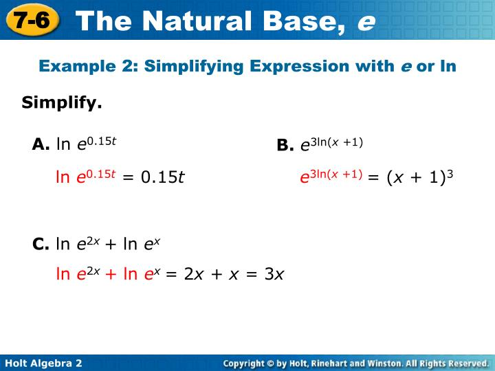 Example 2: Simplifying Expression with