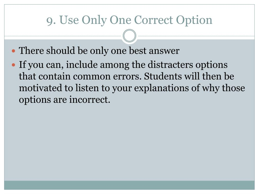 PPT - Writing MC Test Questions PowerPoint Presentation