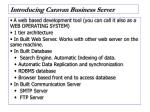 introducing caravan business server