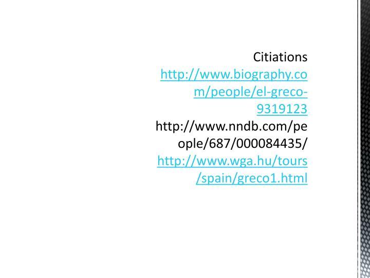 Citiations