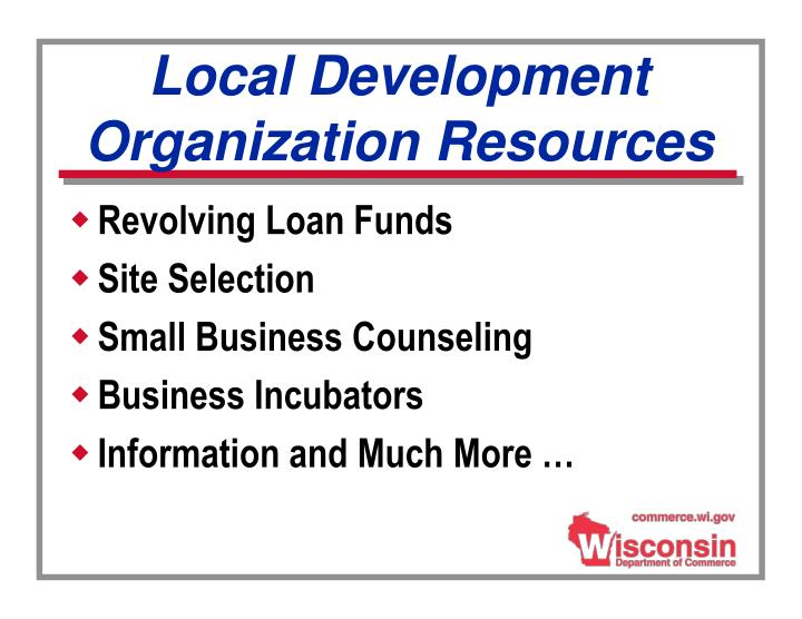 Local Development Organization Resources