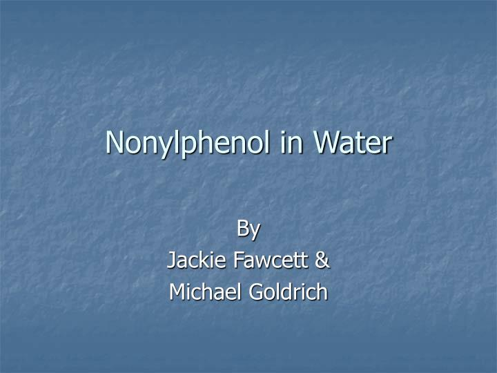 nonylphenol in water n.
