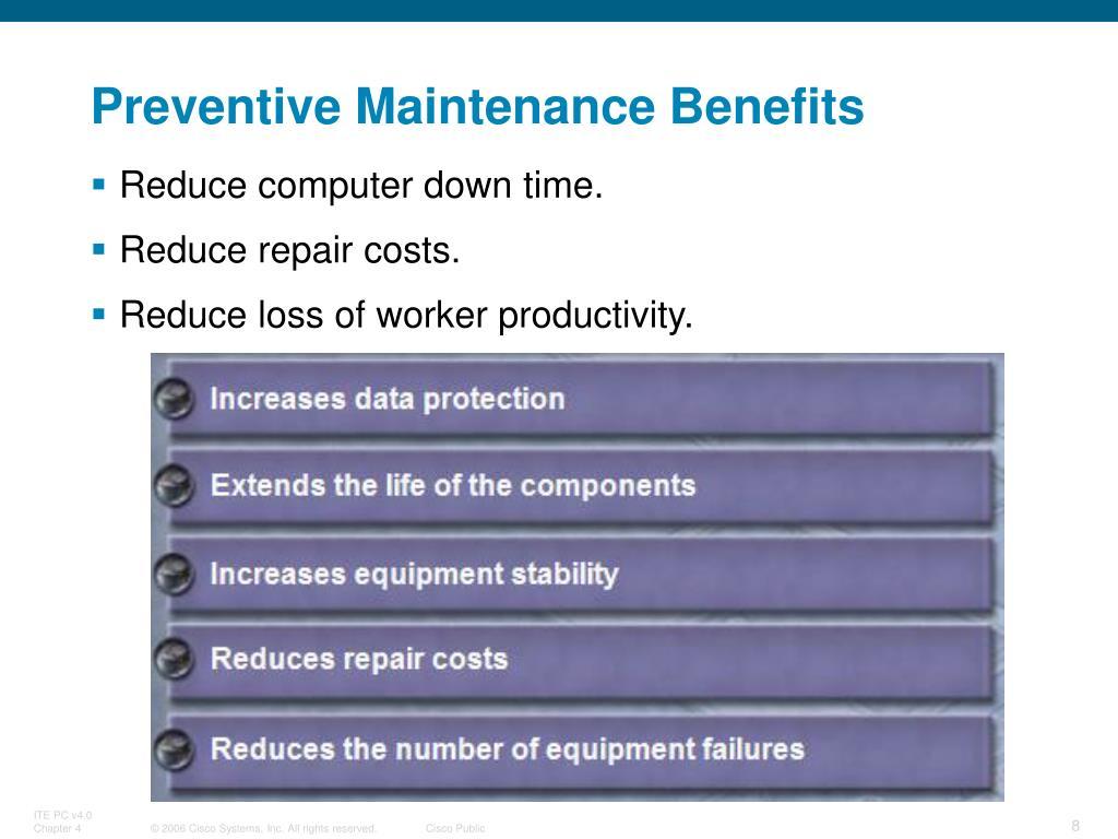 Preventive maintenance computer