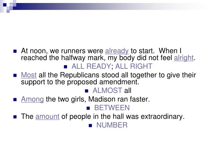 At noon, we runners were