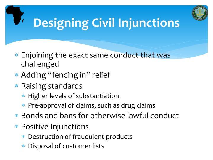 Designing Civil Injunctions