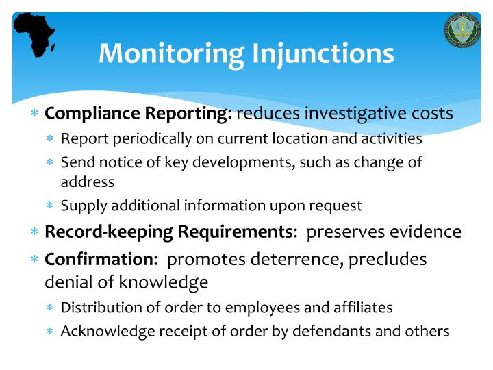 Monitoring Injunctions