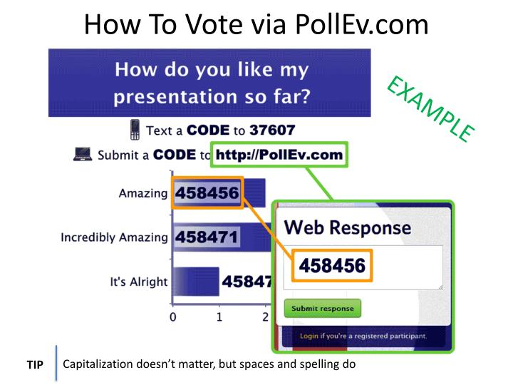 How To Vote via PollEv.com