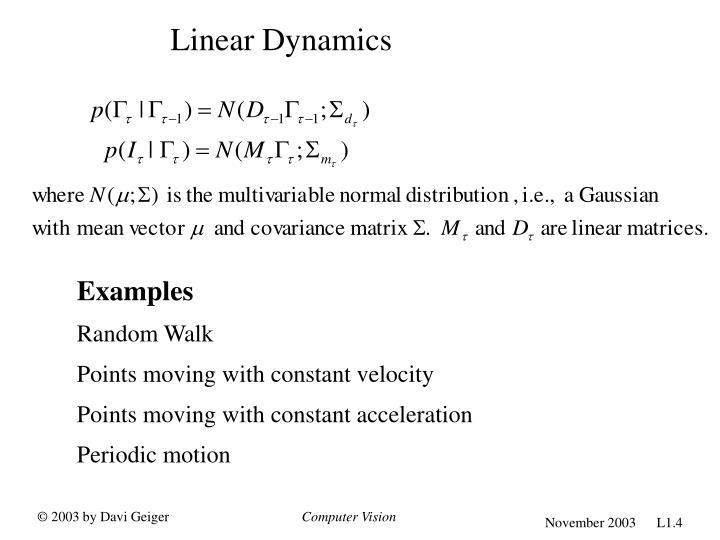 Linear Dynamics