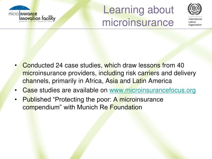 Learning about microinsurance