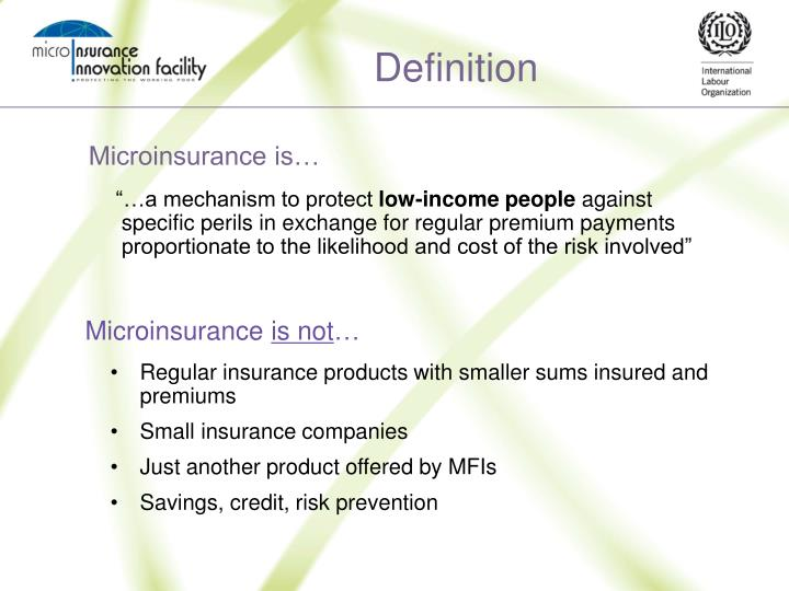 Microinsurance is