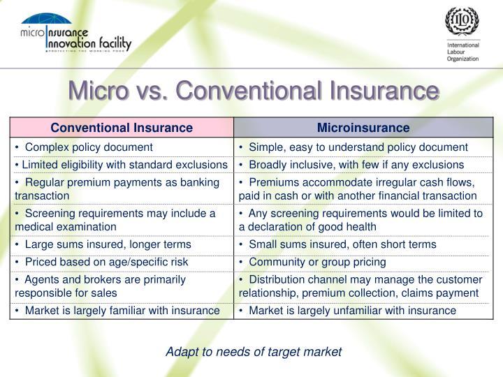 Micro vs. Conventional Insurance