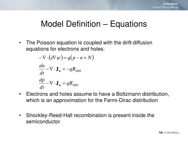 Model Definition – Equations