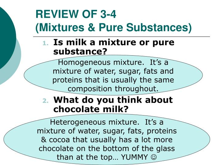 Is Chocolate Milk A Pure Substance Or Mixture