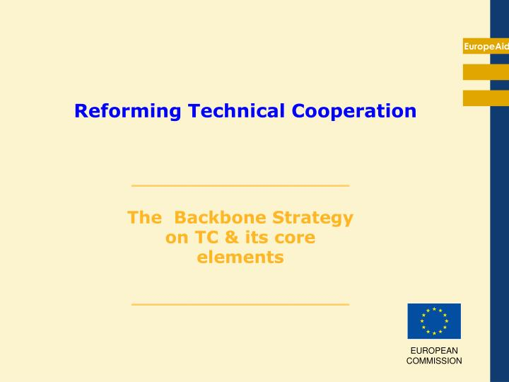 reforming technical cooperation n.
