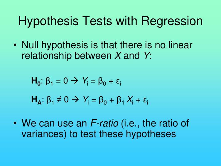 Hypothesis Tests with Regression