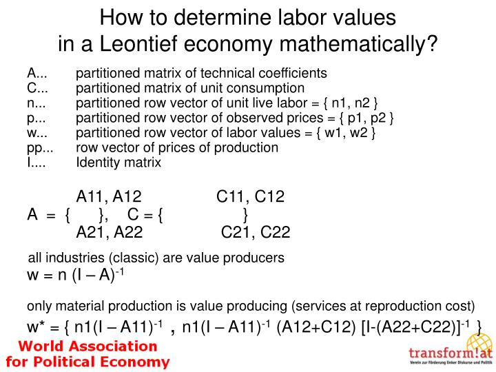 How to determine labor values