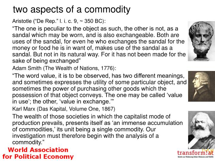two aspects of a commodity