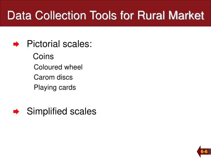 Data Collection Tools for Rural Market