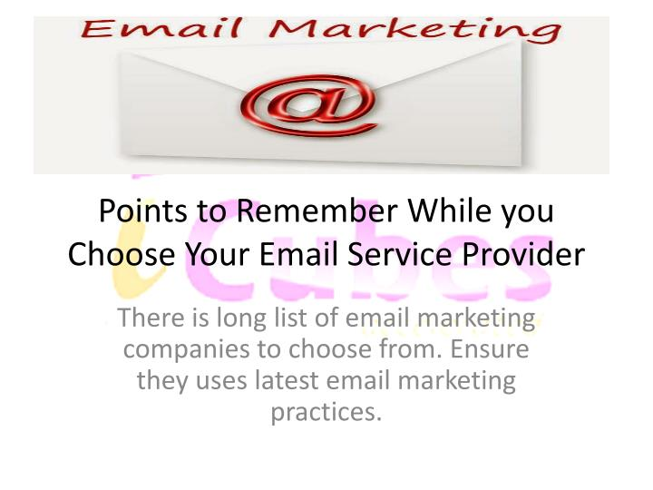 how to choose email marketing service