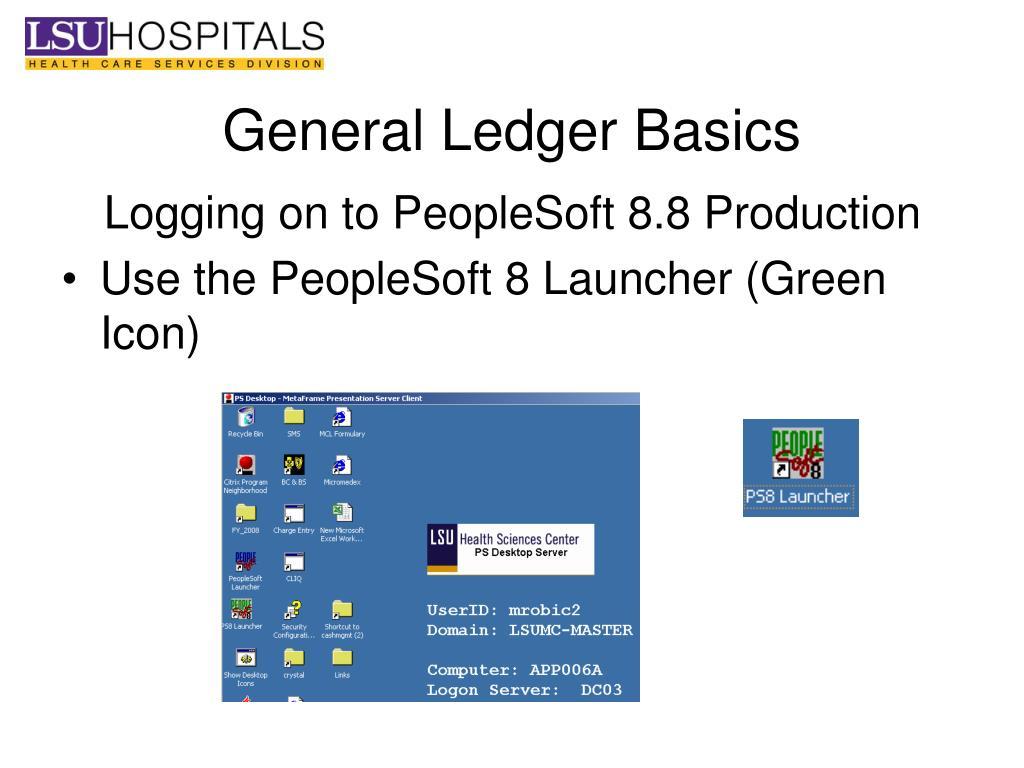 Peoplesoft general ledger basics