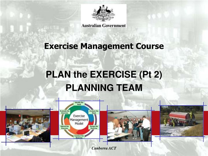exercise management course n.