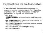 explanations for an association