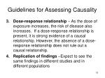 guidelines for assessing causality1