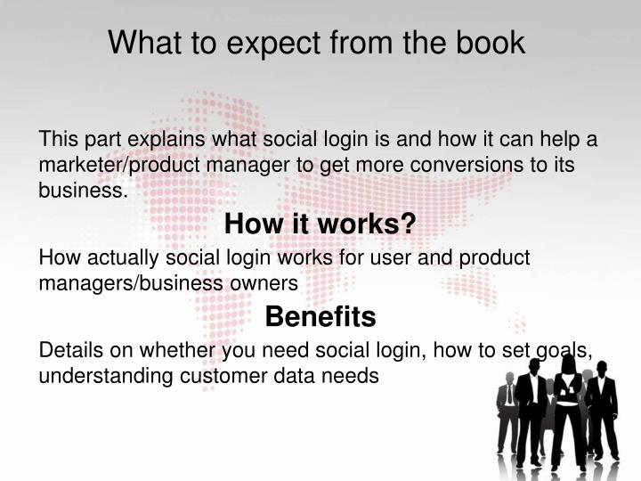 This part explains what social login is and how it can help a marketer/product manager to get more c...