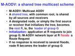 m aodv a shared tree multicast scheme