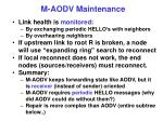 m aodv maintenance