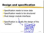 design and specification