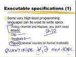 executable specifications 1