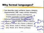 why formal languages