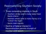 reconstructing southern society