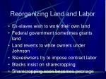 reorganizing land and labor